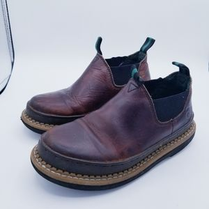 Georgian Giant 4.5 kids soggy brown ankle boots